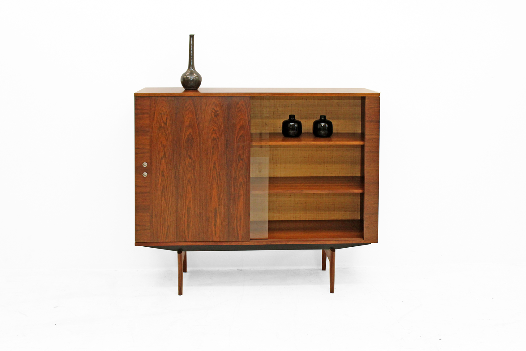 Exclusive barcabinet-showcase in Brazilian Rosewood