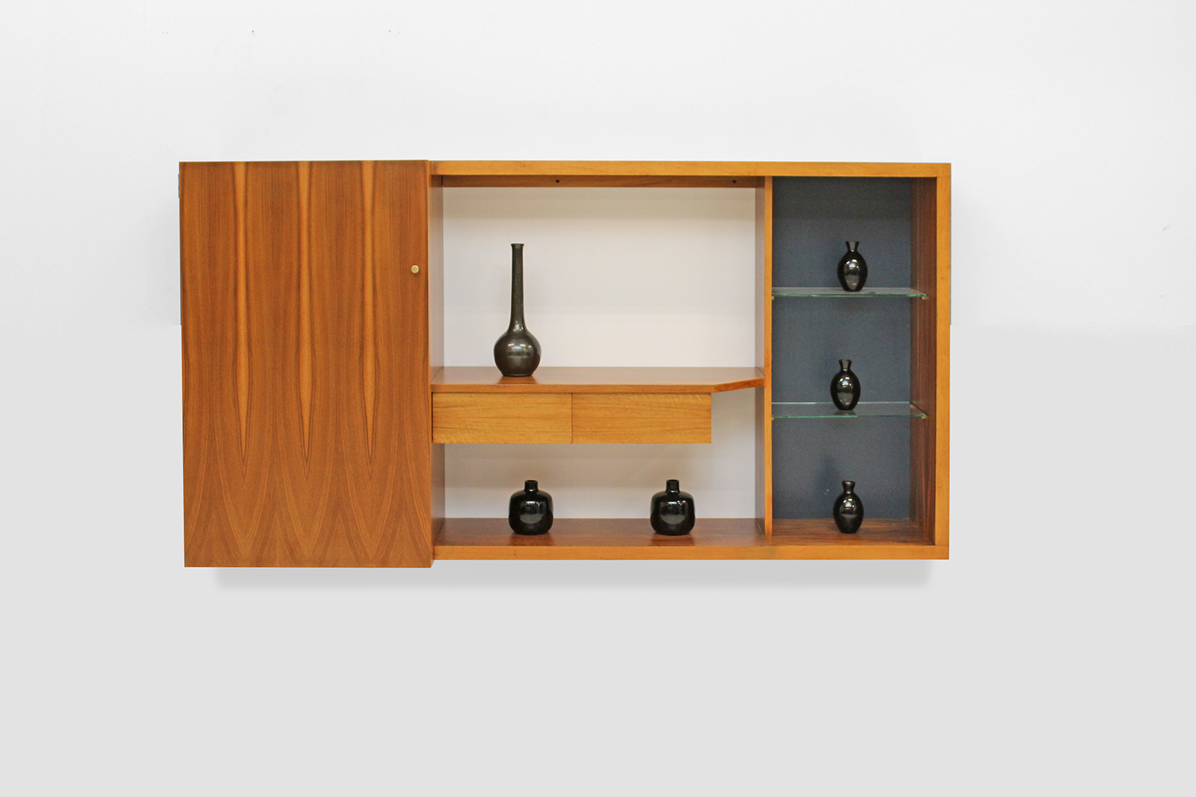 Wall unit in Wallnut by Van den Berghe Pauvers